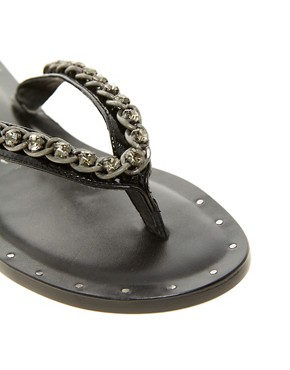 Image 2 ofJuicy Couture Infinity Leather Flat Sandal