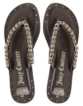Image 3 ofJuicy Couture Infinity Leather Flat Sandal