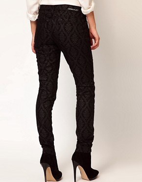 Image 2 ofCurrent/ Elliot Ankle Skinny In Black Brocade