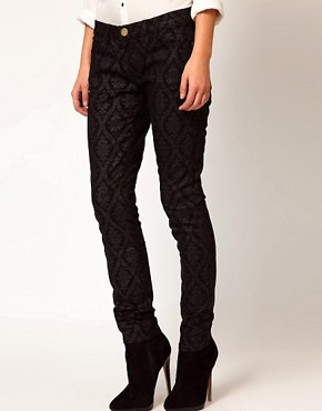 Image 4 ofCurrent/ Elliot Ankle Skinny In Black Brocade