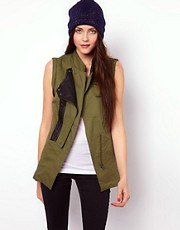 Vero Moda Sleeveless Military Jacket