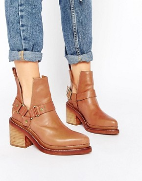 Windsor Smith Woodley Leather Cut Out Heeled Ankle Boots