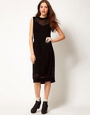 Shae Knitted Dress with Drawstring Waist