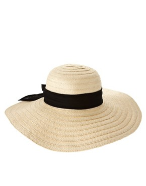 Image 2 ofASOS &#39;70s Straw Floppy Hat