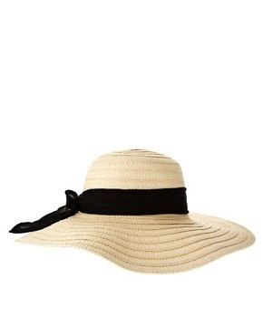 Image 4 ofASOS &#39;70s Straw Floppy Hat