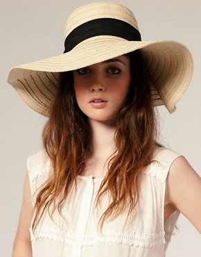 Image 1 ofASOS &#39;70s Straw Floppy Hat