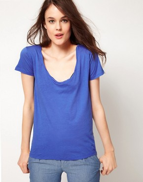 Image 1 ofAmerican Vintage T Shirt With Twisted Binding Detail