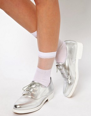 Image 1 ofASOS Sheer Stripe Sock