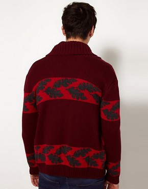 Image 2 ofCommon Sons Cardigan with Stag Print