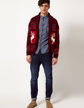 Image 4 ofCommon Sons Cardigan with Stag Print