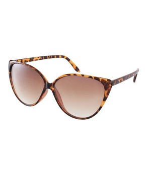 Image 1 ofRiver Island Printed Cat Eye Sunglasses