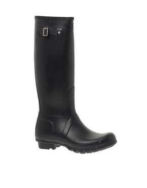 Image 1 ofHunter Original Black Wellington Boots