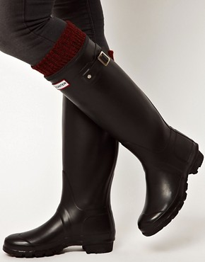 Image 2 ofHunter Original Black Wellington Boots