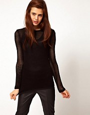ASOS Jumper In Mesh Knit