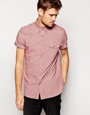 ASOS Shirt In Short Sleeve With Twist Yarn