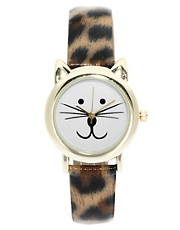 ASOS Leopard Cat Ears Watch