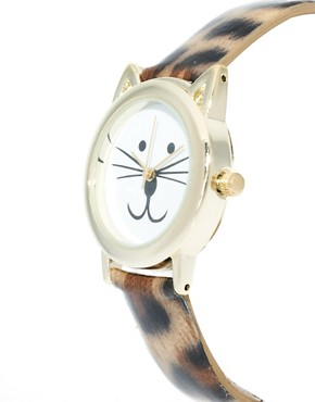 Image 3 ofASOS Leopard Cat Ears Watch
