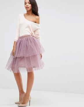Boohoo Tiered Tulle Skirt