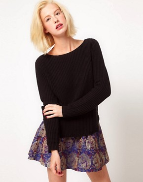 Image 1 ofASOS Rib Jumper With Hem Detail