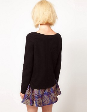 Image 2 ofASOS Rib Jumper With Hem Detail