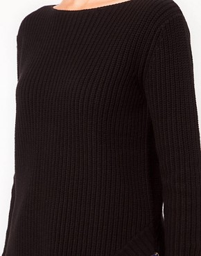 Image 3 ofASOS Rib Jumper With Hem Detail
