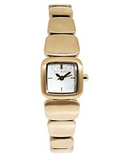 Ted Baker Square Face Gold Bracelet Watch