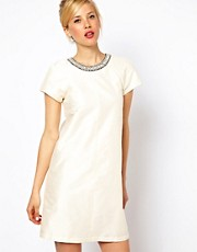 ASOS Shift With Embellished Trim