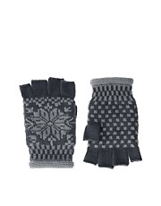 ASOS  Fingerlose Fairisle-Handschuhe