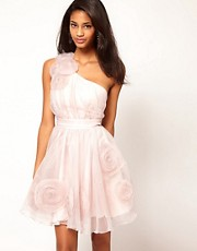 Lipsy VIP 3D Corsage Trim Prom Dress