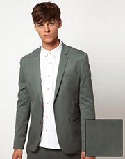 ASOS Skinny Fit Suit Jacket in Wool Blend
