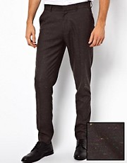 ASOS Skinny Fit Smart Trousers With Nep