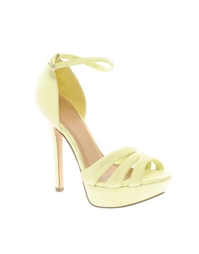 Image 1 ofASOS HOORAY Platform Heeled Sandals