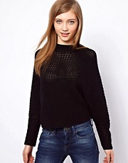 ASOS Crochet Stitch Swing Sweater