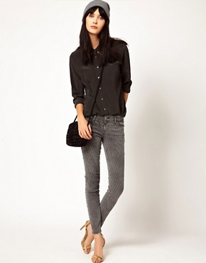 Image 4 ofEquipment Brett Silk Shirt with Gold Collar Tips