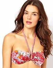Esprit Acapulco Print Padded Bandeau Bikini Top