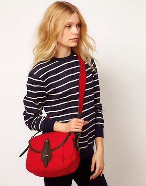 Image 3 ofFrench Connection Lake Canvas Saddle Bag