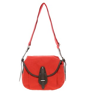Image 1 ofFrench Connection Lake Canvas Saddle Bag