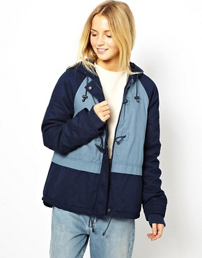 Image 1 ofASOS Blocked Duffle Parka