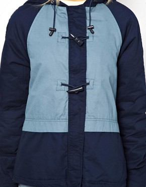 Image 3 of ASOS Blocked Duffle Parka