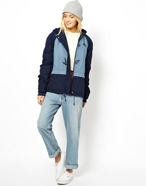 Image 4 of ASOS Blocked Duffle Parka