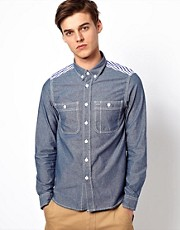 Black Chocoolate Chambray Workwear Shirt