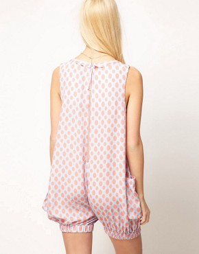 Image 2 ofASOS Bloomer Playsuit in Spot Print