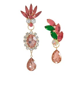 Image 1 ofASOS Mismatch Jewel Opulent Earrings