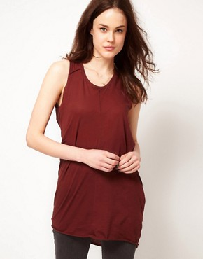 Image 1 ofSelected Dalli Jersey Tunic with Drape back Detail
