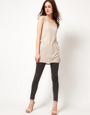 Image 4 ofSelected Dalli Jersey Tunic with Drape back Detail