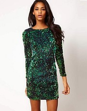 Motel Gabby Dress in Iridescent Sequin