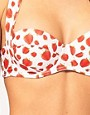 Image 3 ofASOS 50&#39;s Strawberry Print Padded Fullerbust Halter Bikini Top