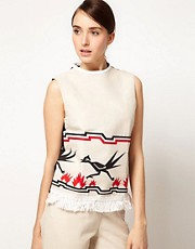 JW Anderson Sleeveless Top With Bird Print