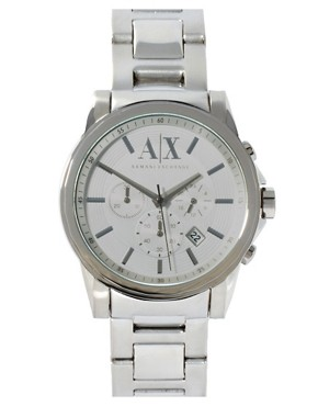 Image 1 ofArmani Exchange Chronograph Watch With Steel Strap AX2058