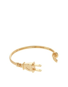 Image 1 ofASOS Plug Cuff Bracelet